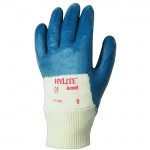 Ansell 47-400 Hylite blue Nitrile Palm Coated Knit Wrist Glove