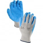 Azusa Safety L22118 13-gauge knit nylon Blue natural rubber latex palm coated glove