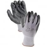 Azusa Safety N10580 13-gauge knit nylon Black Micro-Foam Nitrile Coated gloves