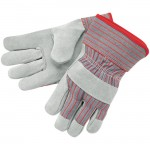 MCR Safety 1200 Leather Palm Work Glove with Safety Cuff