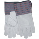 MCR Safety 1318 Leather Palm Work Glove with Gauntlet Cuff