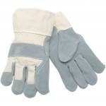 MCR Safety 1400 Leather Palm Work Glove with Duck Safety Cuff