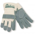MCR Safety 16010 Side Kick Leather Palm Work Glove with Safety Cuff