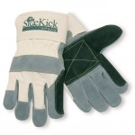 MCR Safety 16012 Side Kick Double Leather Palm Work Glove with Safety Cuff