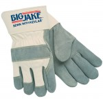 MCR Safety 1700 Big Jake Leather Palm Work Glove with Safety Cuff