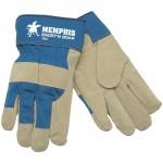 MCR Safety 1952 Snortin' Boar Leather Palm Work Glove with Safety Cuff