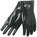 "MCR Safety 6922 Black Jack Multi Dipped Neoprene Work Glove 12"" gauntlet"