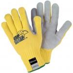 MCR Safety 9686 Grip Sharp Kevlar Work Glove with Leather Palm