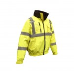 Radians SJ21-3ZGS Class 3 Three-in-One Deluxe Hi-Viz Bomber Jacket Hi-Viz Green