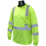 Radians ST21-3PGS Class 3 Long Sleeve T-Shirt with Max-Dri™ Hi-Viz Green