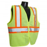 Radians SV22-2ZGM Economy Class 2 Safety Vest with Two-Tone Trim Mesh Hi-Viz Green