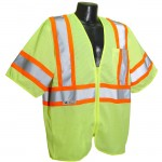 Radians SV22-3ZGM Economy Class 3 with Two-Tone Trim Vest Mesh Hi-Viz Green