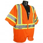 Radians SV22-3ZOM Economy Class 3 with Two-Tone Trim Vest Mesh Hi-Viz Orange