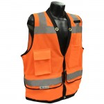 Radians SV59-2ZOD Class 2 Heavy Duty Surveyor Safety Vest Hi-Viz Orange