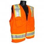 Radians SV6O Two Tone Surveyor Class 2 Safety Vest Hi-Viz Orange