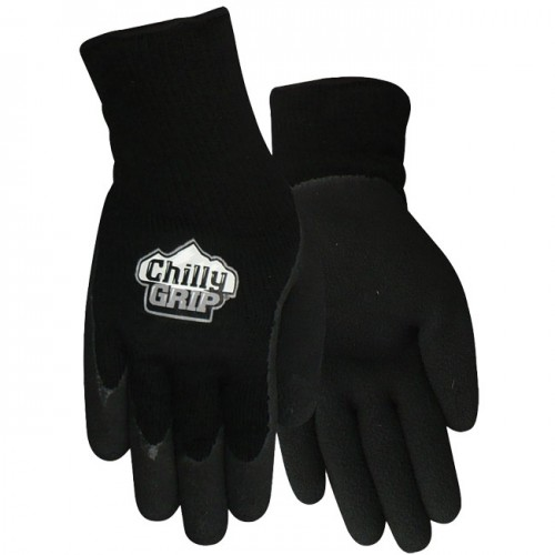 Red Steer Gloves : Red steer a chilly grip glove foam latex black