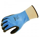 Showa Best Glove 377 Showa Foam Grip Nitrile Black and Blue Glove