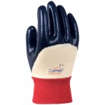 Showa Best Glove 7000PR Nitri-Pro Palm Coated Nitrile Glove with Knit Wrist