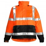 Tingley J24129 Icon Rain jacket orange Class 3 waterproof breathable