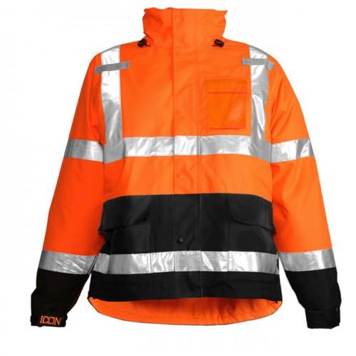 Tingley J24129 Icon Rain Jacket Orange Class 3 Waterproof