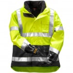 Tingley J24172 Icon lined Rain jacket yellow Class 3 waterproof breathable