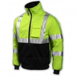 Tingley J26002 Bomber jacket lime/black Class 3 fleece liner