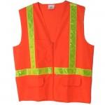Valcrest 28250 Class 2 Safety Vest Orange Knit polyester