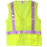 Valcrest 28261 Class 2 Safety Vest Mesh Lime Green Jersey mesh polyester