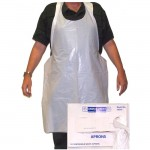 Valcrest 29202 White disposable aprons 2-mil 100 pieces per dispenser box
