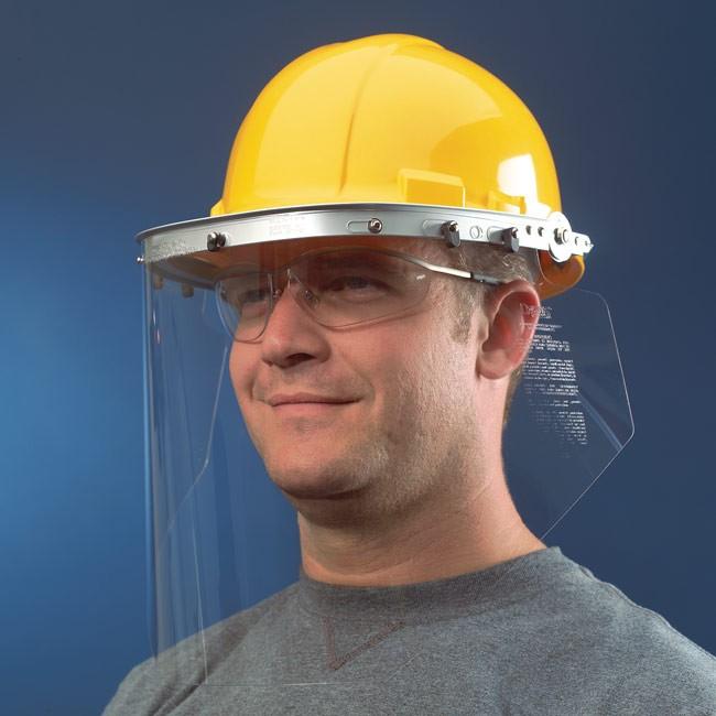 MCR Safety 102 Aluminum Face Shield Bracket for Hardhat